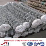 Vente en gros de frontière de sécurité de maillon de chaîne de treillis métallique de diamant