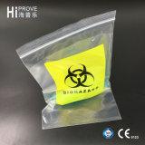 Sacos de plástico médicos do selo do auto do transporte do espécime Ht-0615