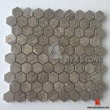Mosaicos de mármol de madera Polished para la decoración de la pared y del suelo