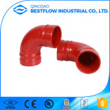 FM Aprovado Ferro Ductil Ranhurado Fire Fighting Pipe Fittings