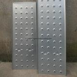 Escala del metal del tablón del andamio con el gancho de leva o fuera