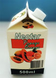 Material de embalagem de Mini 500ml Juice Gable Top Carton
