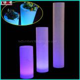 Luz plástica al aire libre del jardín LED de los muebles de Cashepot LED
