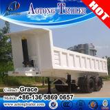 반 공장 3 차축 40ton 끝 팁 주는 사람 트레일러, 반 끝 덤프 트레일러, 판매를 위한 후방 기울이는 덤프 트럭 트레일러