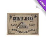 Contrassegno impresso personalizzato del cuoio della stampa per i jeans