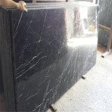 Иметь черноты сляба фабрики мрамор Marquina Polished большой черный