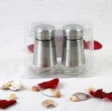 Glascruet-Gewürz-Flasche mit Edelstahl-Beschichtung