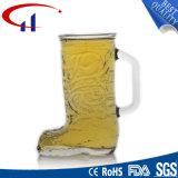 350ml靴デザインガラスビールのジョッキ(CHM8060)