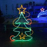 Luzes do motivo de Pólo da decoração do diodo emissor de luz do motivo quente da rua do diodo emissor de luz do Natal do Sell 2D