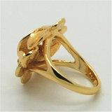Anel nacional Gold-Plated clássico da flor da forma (R130022)
