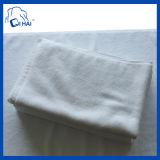 100%年の綿の明白なサテン白タオル