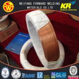 H08A EL12 3.2mmx25/250kg/Coil eingetauchtes Elektroschweißen-Draht mit Kupfer-überzogenen Schweißens-Verbrauchsmaterialien