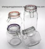 De Container van de Kruik van de Opslag van het Voedsel van het Kostuum van vier Stuk/van de Kruik van het Glas/de Fles van het Glas in de Toepassing van het Huis
