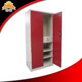 ISOは金属の両開きドアのインドの引出しデザインAlmirahの中の鋼鉄寝室の鉄を証明した