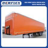 トラックカバーのための反紫外線上塗を施してある防水シート
