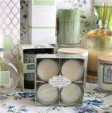 Candele Votive di vetro profumate di vendita 4 di fragranza calda del PK per la promozione domestica del regalo e della decorazione