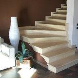 Natürlicher goldener weißer grauer Mokka-Kalkstein für Treppen-Schritt-HandläufeBaluster