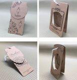 Boleto del oscilación del papel de Kraft para la ropa/los zapatos/joyería