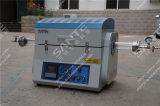 forno a camera spaccato di vuoto di 1200deg c per il trattamento termico del laboratorio