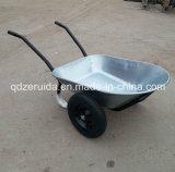Carrinho de mão de roda galvanizado do tratamento de superfície para o mercado de Alemanha (WB6406)