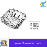 Comparar el cenicero de cristal presionado brillante de Borosilicate