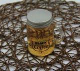 Taza de cristal de la maneta del mini café con la tapa del metal