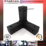 CNC Machning Sahnghai Factroyによる黒い精密機械化の部品