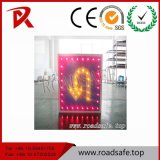 Roadsafe LED 인도 회전 알루미늄 사려깊은 주문 경고 도로 안전 교통 표지 상징
