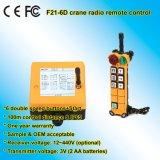 De controle remoto sem fio industrial das teclas da velocidade dobro 6 de F21-6D