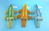Giocattolo del coccodrillo per gli animali domestici che giocano con tre colori
