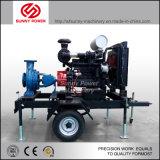 bomba de água 14inch Diesel para a irrigação/projeto municipal com reboque