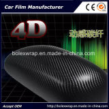 стикер автомобиля Rolls винила волокна углерода 4D, винил автомобиля