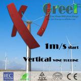 Pequeña vertical de la turbina de viento 0.5kw de la turbina de la red para las ventas