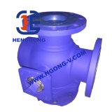 Válvula de bola de alta presión API Wcb brida de tres vías