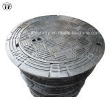 Wasserdichtes Vented Ductile Iron Manhole Cover, En124 D400, E600, F900, Applied zu Sidewalks und zu Parks