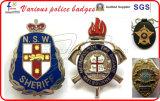 Distintivi della polizia placcati oro di alta qualità