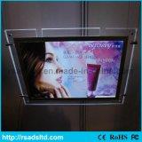 Cadre léger mince en cristal lumineux d'Afficheur LED acrylique