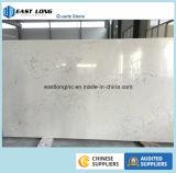 Pedra artificial de mármore nova de quartzo de Calacatta para a bancada