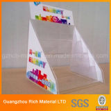 Présentoir en plastique acrylique pour la brochure/crémaillère en plastique de perspex pour le feuillet