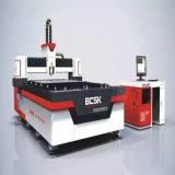 Machine de découpage de laser de fibre de feuille de plaque signalétique de matériel