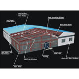 Warehouse 또는 Workshop/Shed (SL-0063)를 위한 낮은 Cost High Quality Steel Structure