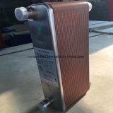 고품질 카운터 교류 R410A 냉각하는 구리에 의하여 놋쇠로 만들어지는 격판덮개 열교환기
