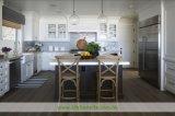 水晶上(WH-D288)が付いている白い純木浜様式の食器棚