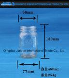 Geprägtes Muster-Raum-Glasflaschen-Stau-Glas