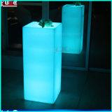 Glühen-Möbel leuchteten Pfosten-Block geleuchteten im Freientisch