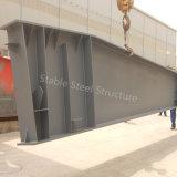 Montaggio di metallo galvanizzato e verniciato della struttura d'acciaio della sezione di H per costruzione