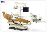 Unten Tellersegment-lederner zahnmedizinischer Luxuxstuhl mit Cer-Zustimmung