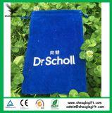 高品質の円形の底が付いている青い二重ビロード袋