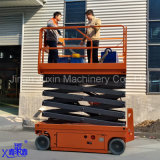 8m baterías móviles de plataforma de trabajo aérea de tijera