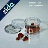 Контейнера цилиндра любимчика жестяная коробка пластичного пластичная для микстуры и еды